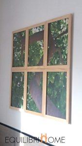 Fenêtre trompe l'oeil sur la nature