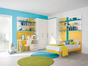 Déco jaune-turquoise