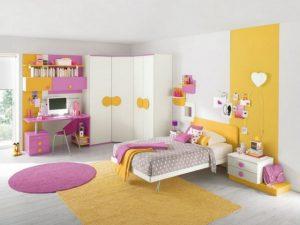 Déco jaune-rose