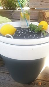 Pot-table basse DIY