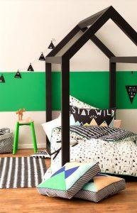 deco mur vert chambre
