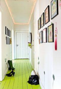 sol peint en vert