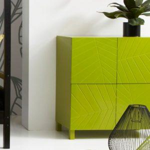 meuble rangement couleur verte