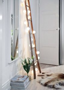 Guirlande-led-echelle-deco-nature