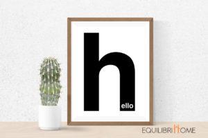Affiche-deco-calligraphie-minimaliste-hello