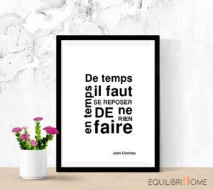 Affiche-deco-cadre-design-citation-inspirante-jean-cocteau