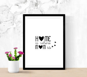 Affiche-deco-cadre-design-home-is-where-mom-is