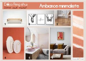 Planche-tendance-minimaliste-decoration-zone-sud-ouest-feng-shui