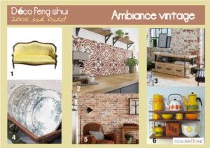 Planche-tendance-vintage-decoration-zone-sud-ouest-feng-shui